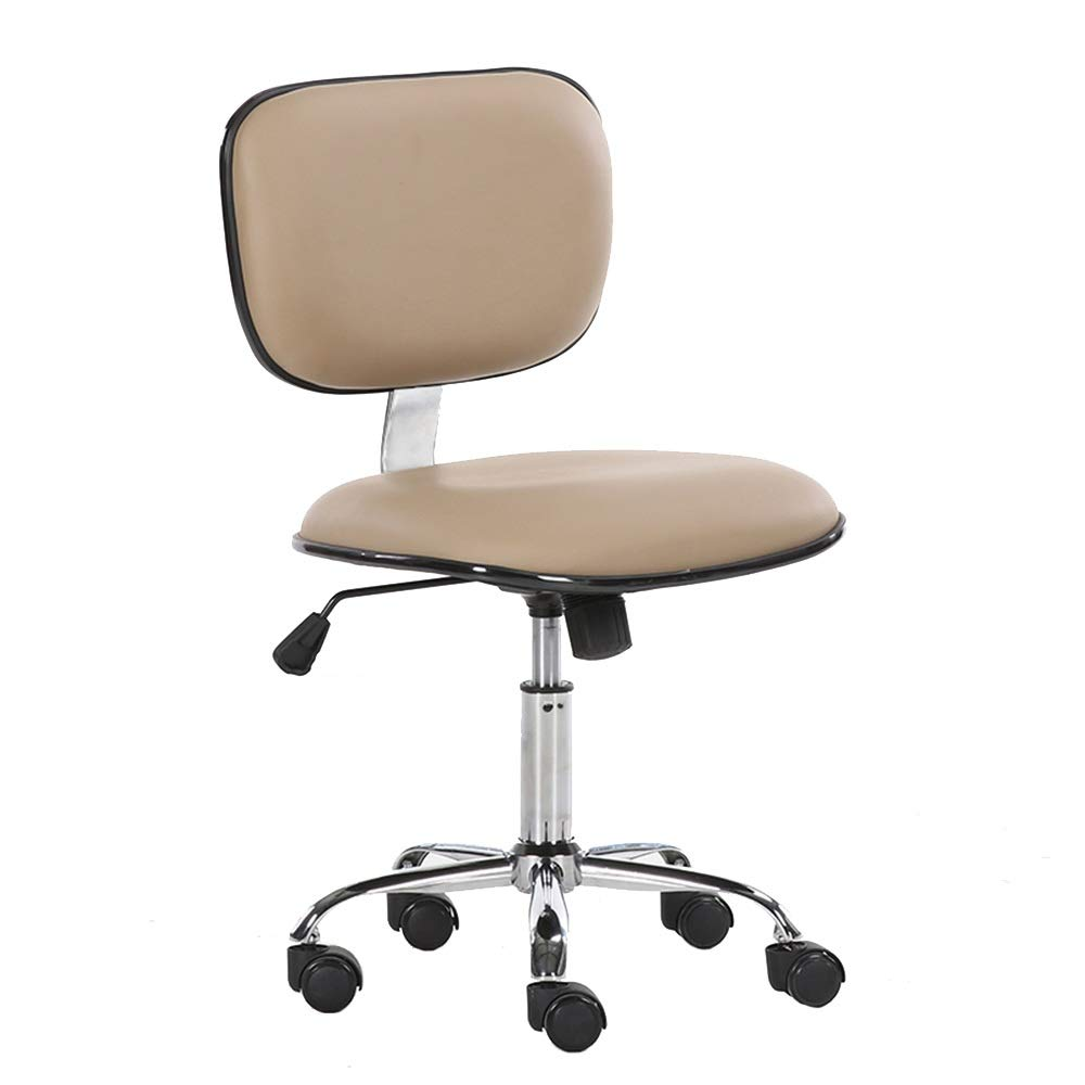 C ZZHF Swivel Chair, Computer Chair Household Company Staff Office Chair Student Dorm Room Study Small PU Chair Swivel Chair, 5 colors Lift Chairs, Backrest Chair (color   B)