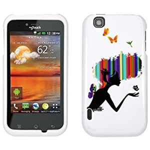 Unlimited Cellular LGE739-SC-WS-DI015 Snap-On Case For LG Mytouch E739 - Fairy Butterfly
