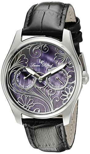 Lucien Piccard Women's LP-10147-01MOP Lovemaze Stainless Steel Watch with Black Mother-of-Pearl Dial