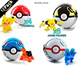 WAREHOUSEDEALS Inspired by Pokeball Anime Cosplay Pop-up Go Fighting Poke Ball 12pcs