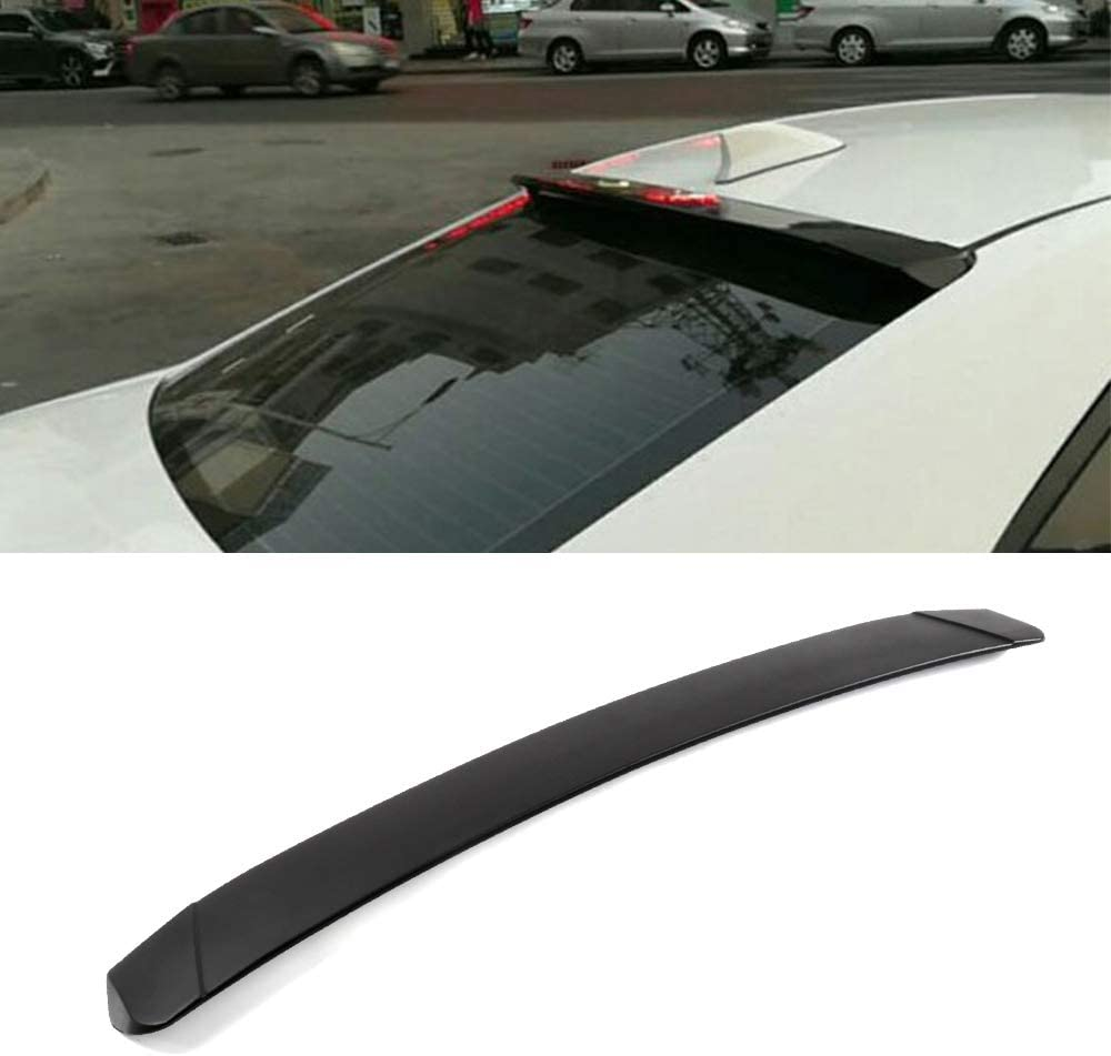 cciyu Black ABS Rear Spoiler Wing Replacement fit for 2014 2015 2016 2017 Toyota Corolla Stylish Trunk Spoiler Wing