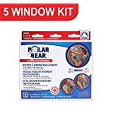 Polar Bear Weatherproofing Extreme 5 Window Insulation Film Kit - 62 Inch x 210 Inch - 66% Thicker - Crystal Clear Film