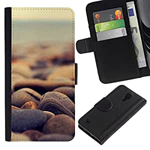 LeCase - Samsung Galaxy S4 IV I9500 - Nature Beautiful Forrest Green 186 - Cuero PU Delgado caso Billetera cubierta Shell Armor Funda Case Cover Wallet Credit Card
