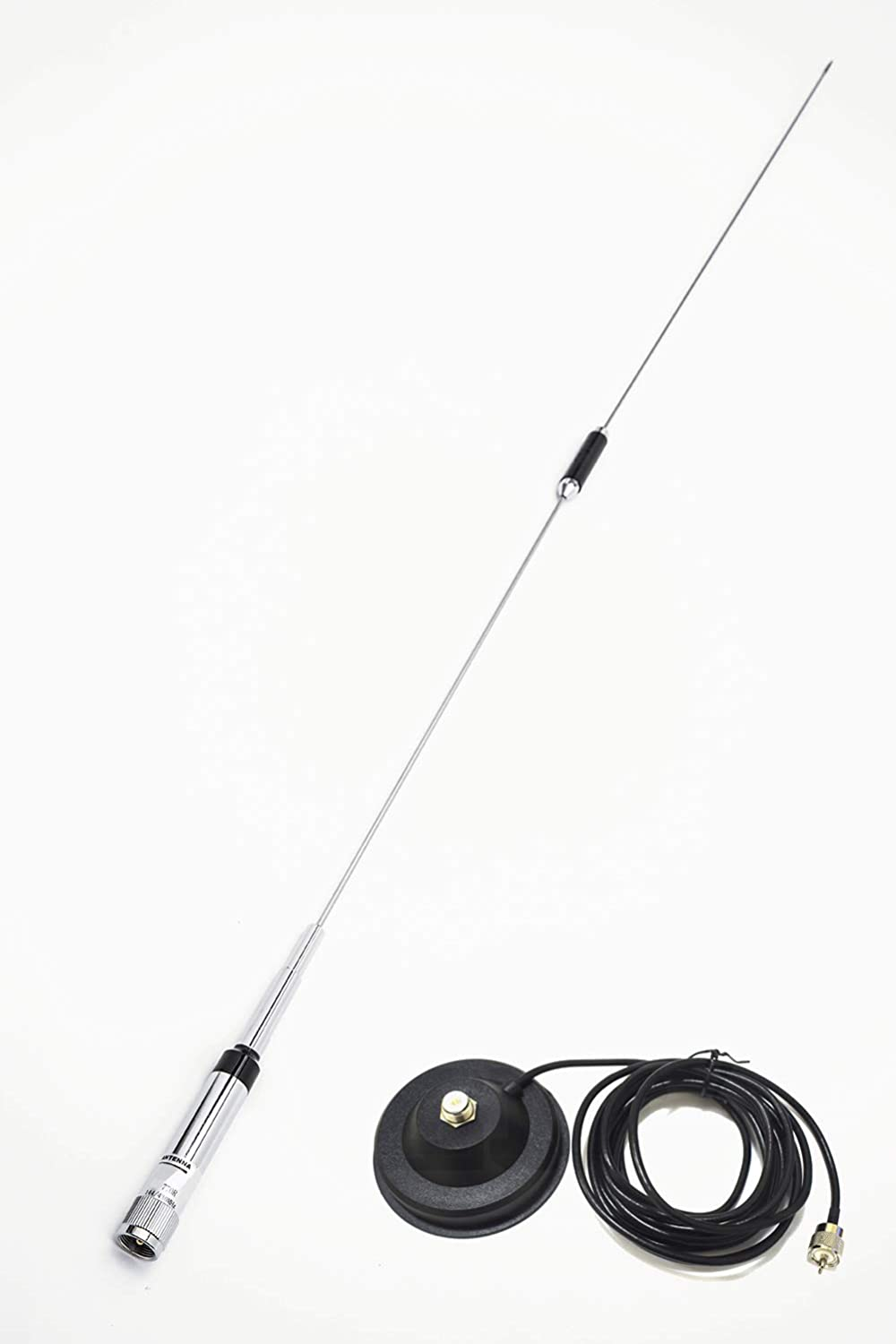 Mobile Antenna 38 inch with Heavy Duty Magnetic Mount VHF/UHF (144/430MHz) Mobile/Car Radio Antenna 770R