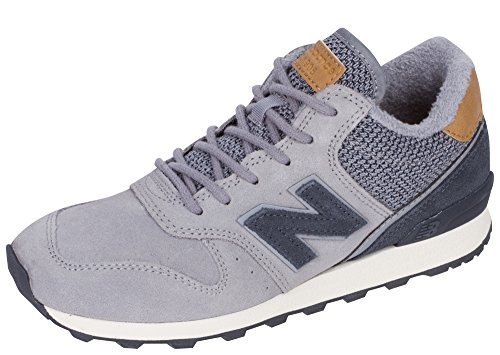 New Balance Women's WH696L Steel/Thunder Suede/Textile 8 B