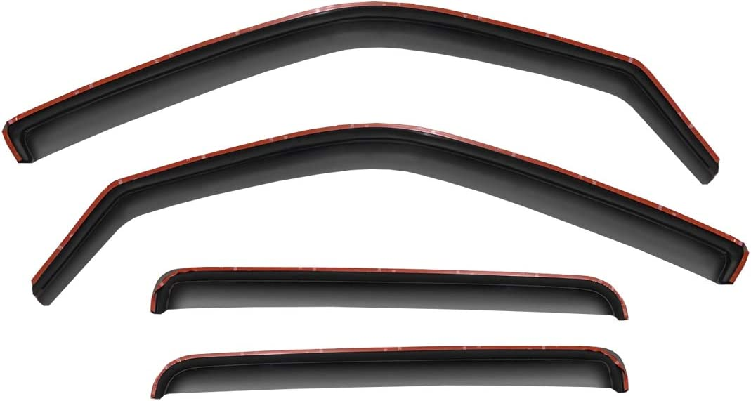 D/&O MOTOR 4pcs Front+Rear Smoke Sun//Rain Guard Wind Deflector Outside Mount Tape-On Window Visors Compatible with 2000-2004 Legacy /& Outback Sedan