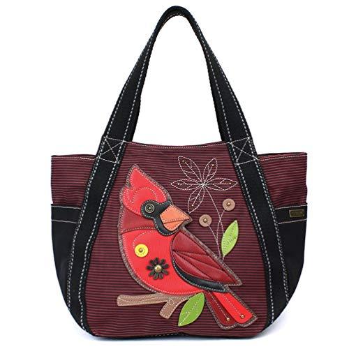 Chala Carryall Zip Tote Bag (Cardinal Burgundy Stripe)]()