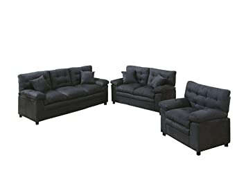 Amazon.com: Poundex Bobkona Colona Juego de sofá de ...