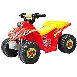 HOMCOM Quad Bateria 6V Moto Eléctrica Infantil Niños Velocidad 2'5 Km/h Carga Máx 20 Kg Cargador Incluido