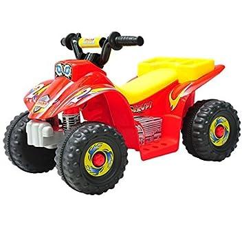Quad Bateria 6V Moto Eléctrica Infantil Niños 1.5 años Velocidad 25 Km/h Carga Máx 20 Kg Cargador Incluido