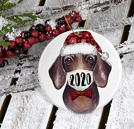 New Pet Dachshund Dog Christmas Ornament Personalized 2020 Dachshund gift Dog