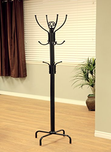 Frenchi Furniture Black Metal Coat Rack