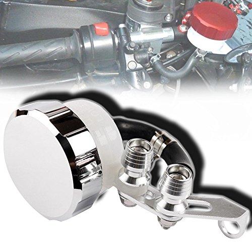 Cnc Metal Tail Rotor (CNC T6061 Aluminum Motorcycle Clutch / Brake Reservoir Fluid Tank Bottle Master Cylinder Silver)