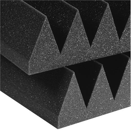 Auralex Acoustics Studiofoam Wedges Acoustic Absorption Foam, 2' x 4' x 4