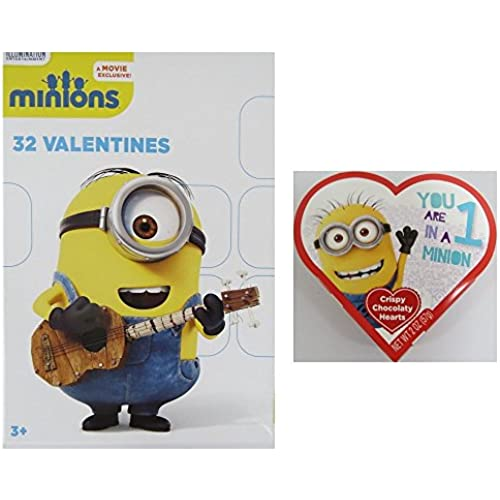 Valentines Minions 32 with Candy Sales