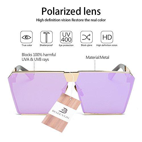 Soleil 400 Uv De violet Or Lunettes Unisexe Camberénorme Métal Bozevon Protection Steampunk Polarisé xz5C8wEqw