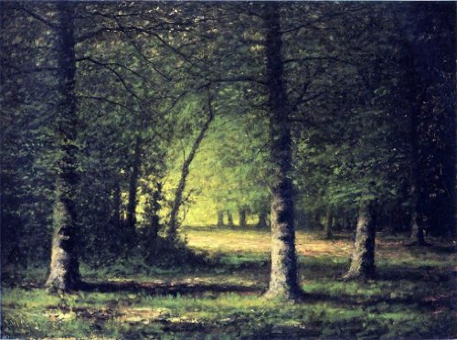 Art Oyster Carl Christian Brenner Beech Trees - 21.1'' x 28.1'' 100% Hand Painted Oil Painting Reproduction by Art Oyster