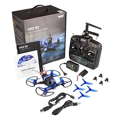 Quadcopter Racing Drone Kit with Fpv HD Camera/Devo 7 Remote Control/F3 Fight Control/Live Video Transmitter(BatteryX2) WD110