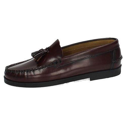 MADE IN SPAIN 213 Castellanos Burdeos NIÑO Zapatos MOCASÍN  Amazon ... c3a2f5a0d5ee