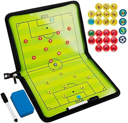 Firlar Coaches Taktiktafel Fussball Coach-Board mit Stifte, Radiergummi, Magneten