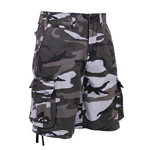 Rothco Vintage Infantry Shorts, City Camo, XX-Large