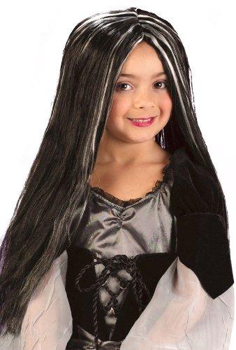 Wig Child Blk Wht Streaks