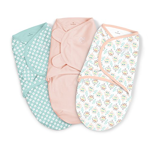 SwaddleMe 3 Piece Original Swaddle, Hoot n' Good Time, Small