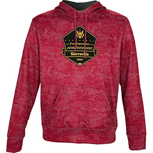 cheap ProSphere Boys' East Zone Tahoe National Forest Fire Dept Fire Department Digital Hoodie Sweatshirt hot sale