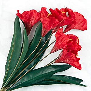 Factory Direct Craft Red Artificial Amaryllis Bush 51