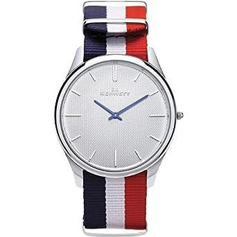 Herren Kennett (Kensington Silber Weiß Wimpelkette NATO Armbanduhr ksilwhrwbnato