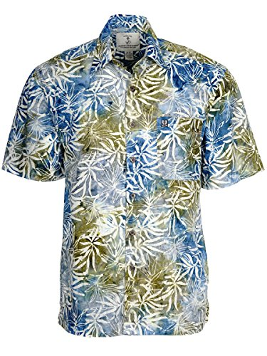 Artisan Outfitters Mens Oasis Batik Cotton Shirt (XLT, Pacific Tan) A0214-22-XLT