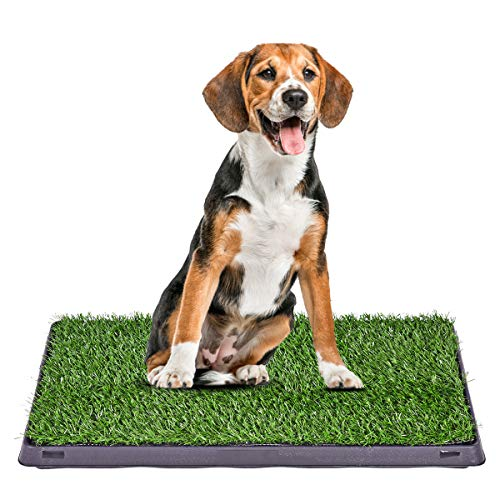 Giantex Puppy Pet Potty Home Training Toilet Pad w/Drawer Grass Surface Dog Pee Mat Turf Patch (25