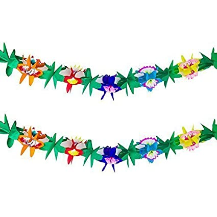 amazon com 9 foot long tropical multicolored paper tissue garland