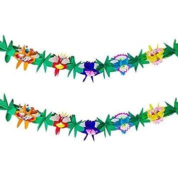 Amazon.com: Guirnalda de papel tissue tropical multicolor ...