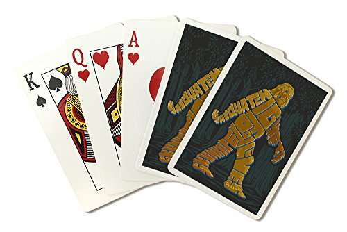 Names of Bigfoot - Typography (Playing Card Deck - 52 Card Poker Size with Jokers)