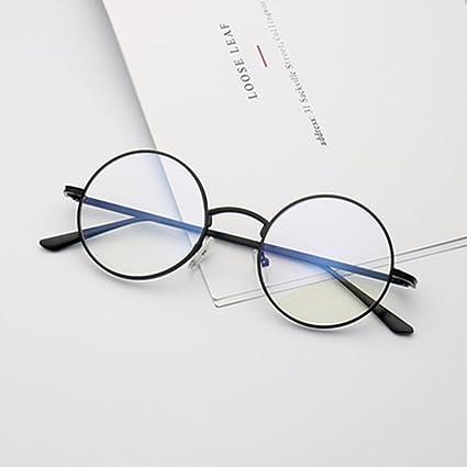 Amazon.com: HONGNA Gafas de sol redondas retro pequeña caja ...
