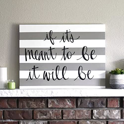 Amazon.com: Gray Striped Canvas Quote Wall Art Sign Modern ...