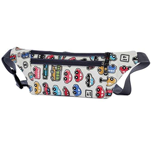 Waist Women Belt Fanny Packs Everpert Chest Pouch Bum Cars Wallet Money Cartoon Handbags 1Xwp5x5qS