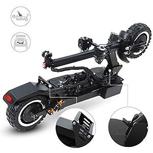 51VE4G9THlL. SS300 GUNAI Scooter Elettrico Adulto Pneumatici per Vuoto Fuoristrada da 11 Pollici 3200W Doppio Motore con Batteria al Litio…