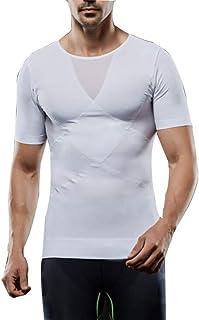 Mens Body Shaper Slimming Shirt Compression Vest Sauna Sweats Suit,XL WW
