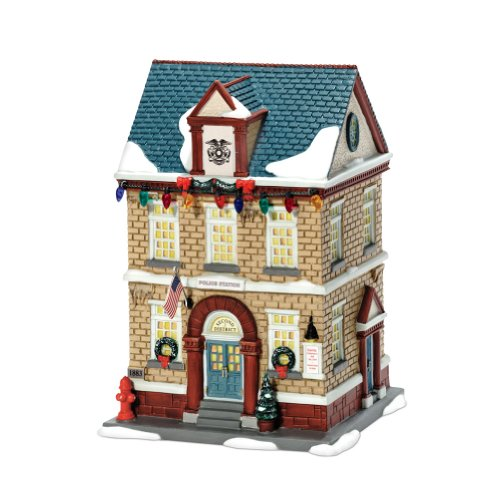 Department 56 A Christmas Story Village Lit House, Police Station (Christmas Story Police Station)