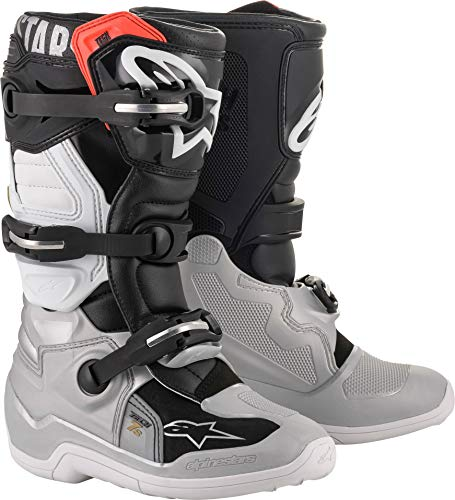 Alpinestars Tech 6S Youth Boots White/Blue/Red (White, 4)
