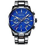 KASHIDUN Men's Watche Army Wrist Watch Casual Quartz Military Waterproof Calendar Date-Blue.929-LHG