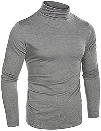 Naggoo Men's Basic Pullover Sweaters Slim Fit Thermal Turtleneck