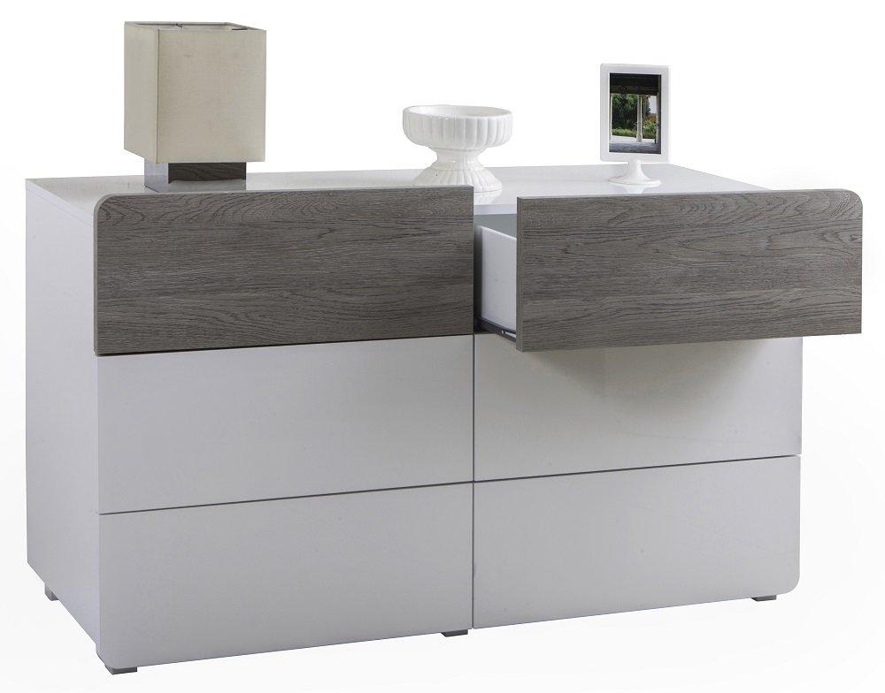 Salone-negozio-online Kit cómoda cajonera 6 C 122 x 45 x 69H ...