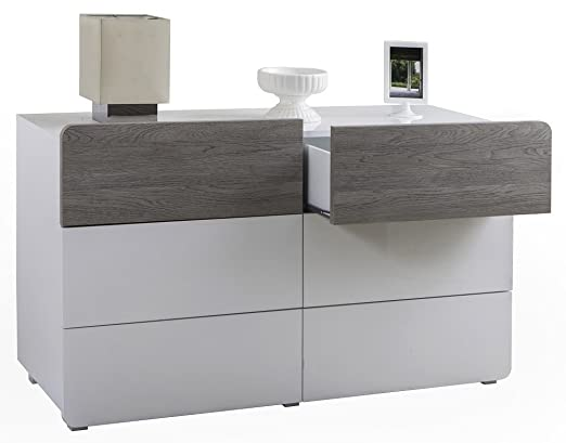 Salone-negozio-online Kit cómoda cajonera 6 C 122 x 45 x 69H Roble ...