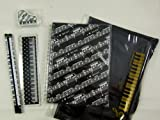 Music Themed Zipper Pouch Stationery Set - A5 Black Music Score Sheets Spiral Bound Notebook, 15cm Ruler, Eraser and 2 Pencils