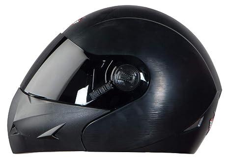3545e156 Steelbird SB-45 7Wings Flip Up Helmet with Smoke Visor (Large 600 MM,  Dashing Black): Amazon.in: Car & Motorbike