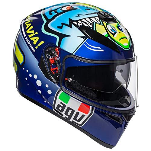 - AGV Unisex-Adult Full Face K-3 SV Misano 2015 Shark Motorcycle Helmet Multi X-Large