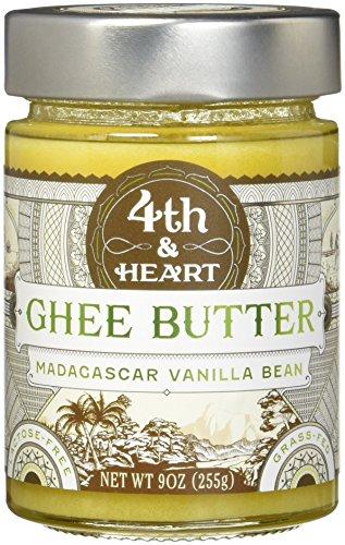 4th & Heart Vanilla Bean Grass-Fed Ghee Butter, 9 Ounce